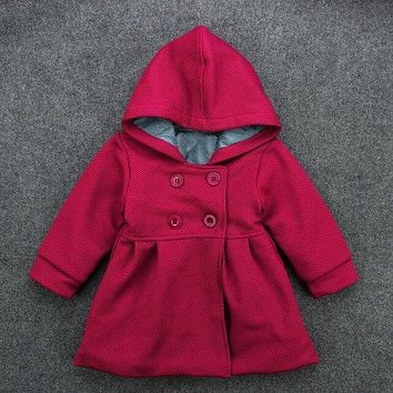 Baby Girls Coat Hooded Long Sleeve Newborns Spring Fall Outerwear Arrivals Casual Infant Jackets Top Clothing
