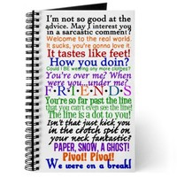 Friends TV Quotes Journal on CafePress.com