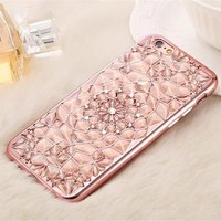 Pretty Rose Pink 3D Flower Phone Case For iPhone 7 7Plus 6 6s Plus 5 5s SE