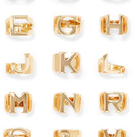 Chloé - Alphabet gold-plated ring