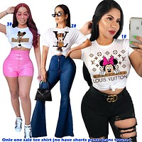 Alwayn Lv Top Louis Vuitton Tee Shirt Women Sweatershirt Mickey Mouse Print White