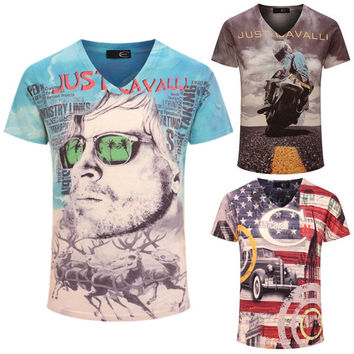 New Design Top Fashion Motorcycle Brand men's T-shirt (Multiple Designs)