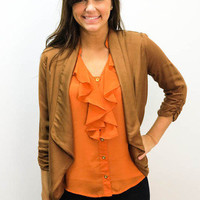 MACA Clothe · Cropped Blazer in Brown