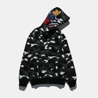 Bape Shark Casual Long Sleeved Sweater Hooded Jacket