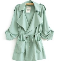 Loose Chiffon Windbreaker Jacket BCBEI