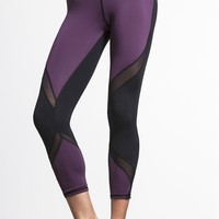 Michi Hydra Crop Legging- Plum | Designer Women's Leggings