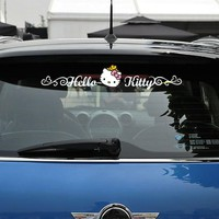 Aliauto Hello Kitty Funny Car Accessories Side Door Sticker Windshield Decal for Peugeot Smart Fortwo Forfour Renault Opel Kia