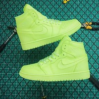 Copy of Air Jordan 1 Mid Grey Volt Sneakers