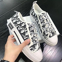Dior Walk'n'dior Sneaker In Oblique Embroidered Canvas Low Tops