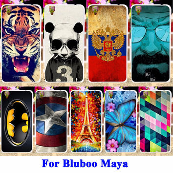 Soft TPU Cell Phone Cases For Bluboo Maya Housing Covers Panda Tiger Captain American Batman Painted Shell For Bluboo Maya Case