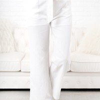 Something To Tell You High Waisted Pants (White)