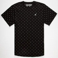 Lrg Palm Grove Mens Tall Tee Black  In Sizes