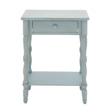 Vintage Blue End Table