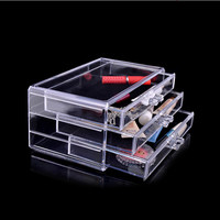 Acrylic make up organizer drawers makeup organizer storage box plastic drawers organizador de maquiagem cosmetic box 1005-1