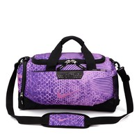 NIKE Long Design Luggage Travel Bags Tote Handbag H-A30-XBSJ