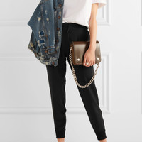 Splendid - Luxe washed silk crepe de chine tapered pants