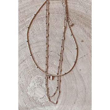 Shine The Brightest Gold Layered Necklace