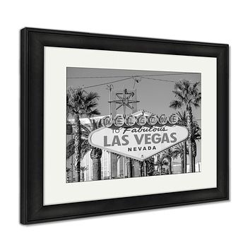 Framed Print, Welcome To Fabulous Las Vegas Sign