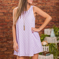 No Room For The Blues Dress, Lavender