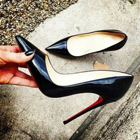 Brand Fashion Women Pumps Red Bottom High Heel Pumps Shoes For Women Red Bottoms Sexy Party Wedding Shoes Woman Zapatos Mujer