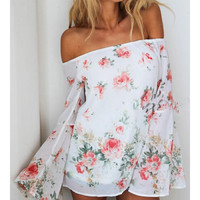 Blouse ~ Roses and Grace Bell Sleeve Stunner, Gorgeous Summer Top & Cover up