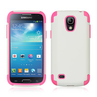 DW Premium Hybrid Protector Case for Galaxy S4 Mini - White/Pink