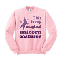 Magical Unicorn Costume Crewneck Sweatshirt