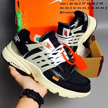 OFF-WHITE x NIKE Air Presto running shoes F-CSXY