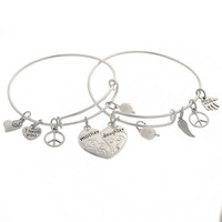 1Pair Bangle Bracelet Mother's Day Gift Jewelry Adjustable Unique Design Love = 5618305665