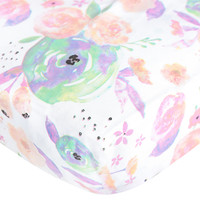 Cotton Fitted Crib Sheet - Bloom