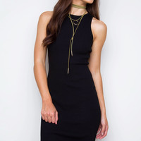 Millie Ribbed Dress - Black