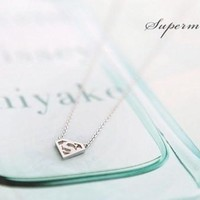 Extra Superman S Sign Necklace Clavicle Chain = 5987608193