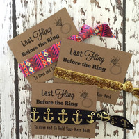 Set of 5 Bachelorette Party Favors | Last Fling Before the Ring | To Have & To Hold