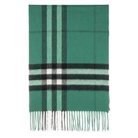 Burberry Unisex Classic Check Cashmere Scarf Green