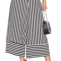 Lovers + Friends Chica Cropped Pant in Bold Stripe | REVOLVE
