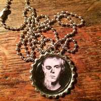 Evan Peters Tate Langdon double face American Horror Story bottlecap necklace