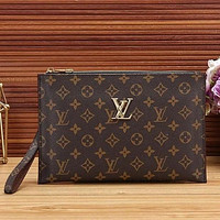 Louis Vuitton Women Fashion Leather Zipper Wallet Purse Bag