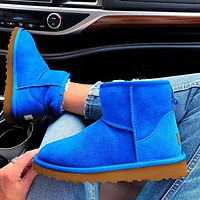 UGG Women Male Fashion Wool Snow Boots Warm shoes Sapphire blue Shoes