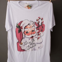 """Gina """"We're All A Little Twisted"""" Embellished Crew Tee"""