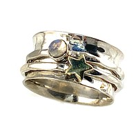 Spinner Ring - Star Moonstone Ring