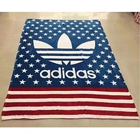 ADIDAS Leopard Print Flag Prints Conditioning Throw Blanket Quilt For Bedroom Living Rooms Sofa