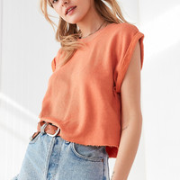 Truly Madly Deeply Tina Roll Sleeve Top | Urban Outfitters