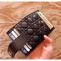 Dior (Dior) new two-fold ultra-thin women's card wallet wallet