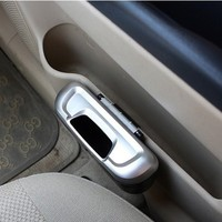 Mini Auto Car Vehicle Garbage Dust Case Holder Box Bin Trash Rubbish Can(Silver)