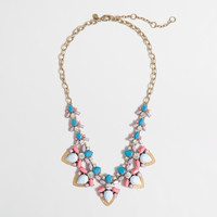 JCrew jeweled collage necklace