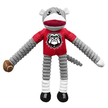 Georgia Bulldogs Sock Monkey Pet Toy