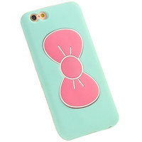 iPhone 6 6S Cute Bow Phone Case (Aqua&Pink)