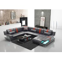 Modern Creative Leather 6 Seat Sectional Sofa