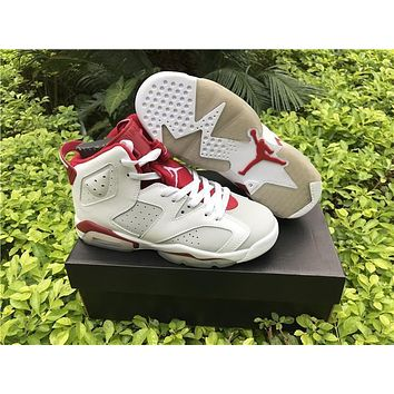 Air Jordan Retro 6 Og Maroon Infrared Red Mens Basketball Shoes Retro 6s Womens Sports Shoes Sneakers Eur 36 47