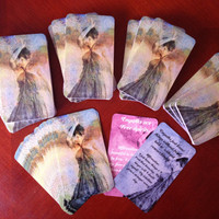 ANGEL CARDS SET / 3 Decks inc Empower the Empath, Shake Your Chakras, Healing Your Inner Child Message Cards plus Free Crystal Surprise!